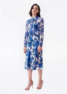 Diane Von Furstenberg Beverly Cady Midi Skirt in Willow Flowers