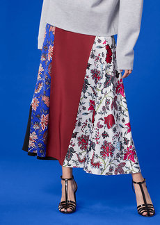 Bias Draped Paneled Skirt
