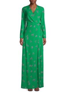 Diane Von Furstenberg Bird-Print Maxi Wrap Dress
