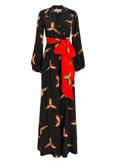 Diane Von Furstenberg Bird Wrap Jumpsuit