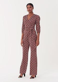 Diane Von Furstenberg Blaire Silk-Jersey Wide-Leg Jumpsuit