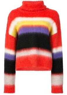 Diane Von Furstenberg block stripe polo jumper