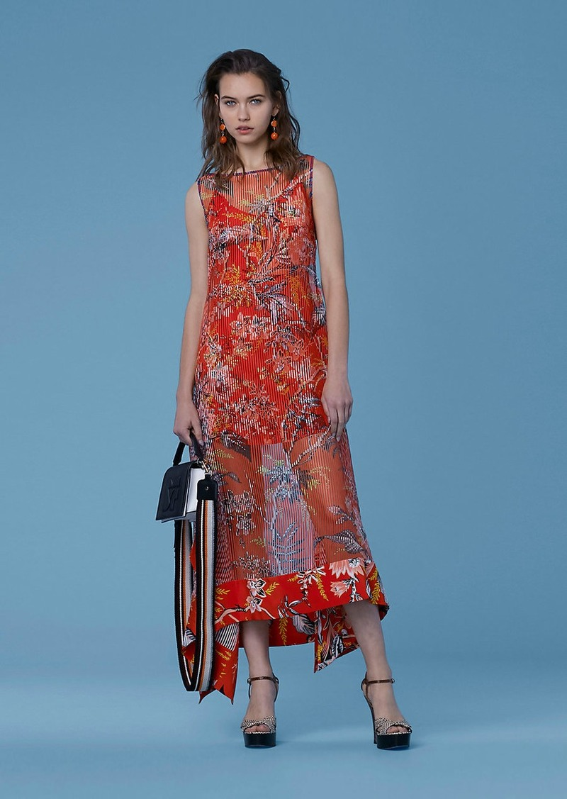 e4619f4ae609 Diane Von Furstenberg Boat Neck Midi Dress Now $449.00