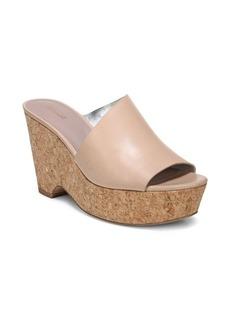 Diane Von Furstenberg Bonnie Tan Platform Wedge Sandals