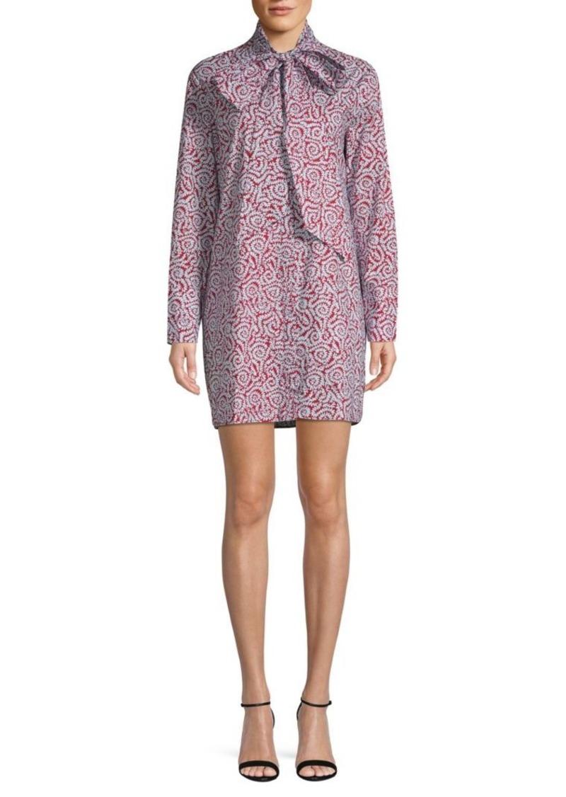 Diane Von Furstenberg Bow Printed Shirtdress