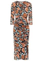 Diane Von Furstenberg Briella floral mesh midi dress