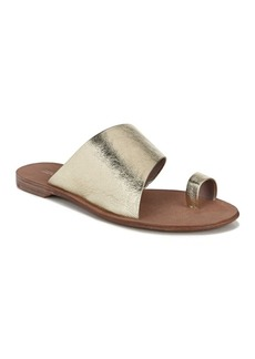 Diane Von Furstenberg Brittany Gold Toe Ring Sandal