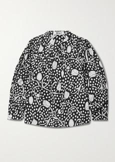 Diane Von Furstenberg Britton Printed Cotton-poplin Blouse