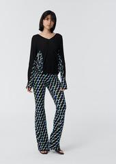 Diane Von Furstenberg Brooklyn Matte-Jersey Skinny Pant in Knit Geo