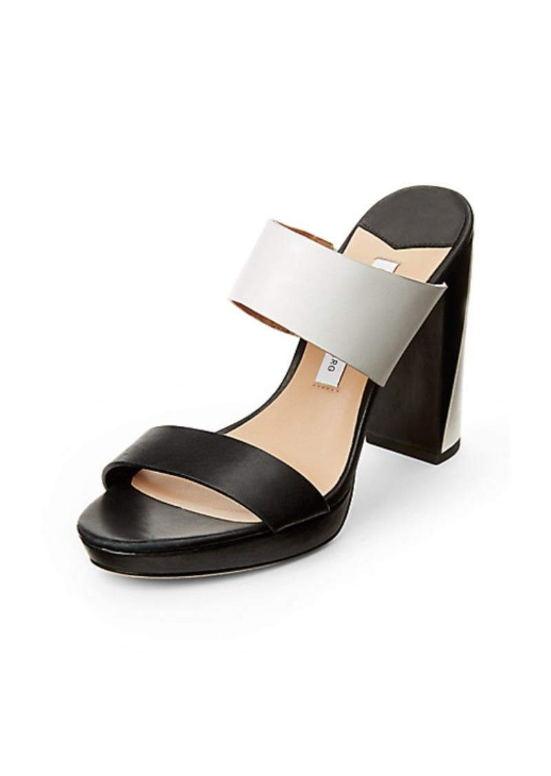 Diane Von Furstenberg Bruges Colorblock Leather Sandal