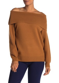 Diane Von Furstenberg Bryson Off-the-Shoulder Wool & Cashmere Sweater