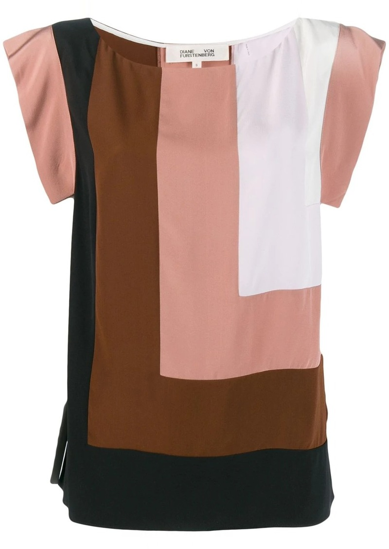 Diane Von Furstenberg Burlwood Multi blouse