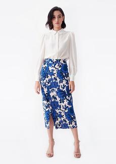 Diane Von Furstenberg Calandra Cady Pencil Skirt in Willow Flowers