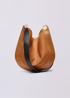 Diane Von Furstenberg Calf Hair and Leather Crossbody Satchel