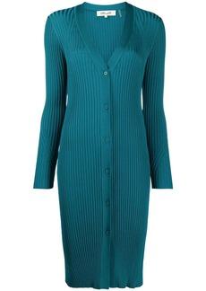 Diane Von Furstenberg Calla ribbed long cardigan