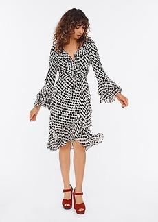 Diane Von Furstenberg Carli Ruffled Silk-Jersey Wrap Dress