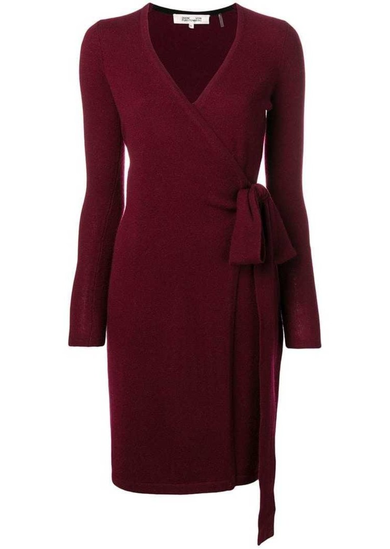 Diane Von Furstenberg cashmere knit wrap dress
