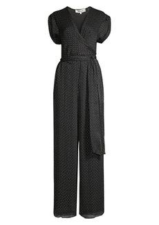 Diane Von Furstenberg Cassandra Printed Silk Jumpsuit