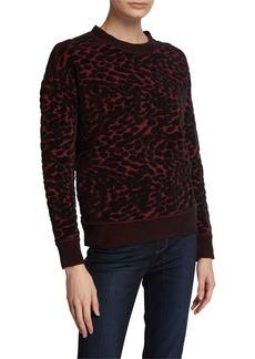 Diane Von Furstenberg Cassia Leopard-Print Crewneck Sweater