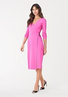 Diane Von Furstenberg Cassidy Knit D-Ring Wrap Dress