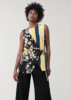 Diane Von Furstenberg Sedona Silk Crepe de Chine Asymmetric Top