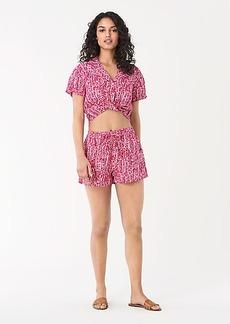 Diane Von Furstenberg Celeste Cotton-Blend Cropped Beach Shirt