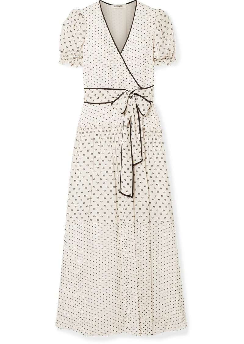 Diane Von Furstenberg Celeste Fil Coupé Chiffon Wrap Maxi Dress