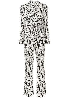 Diane Von Furstenberg chain print jumpsuit