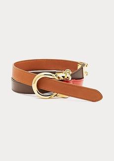 Diane Von Furstenberg Chainlink Leather Wrap Belt