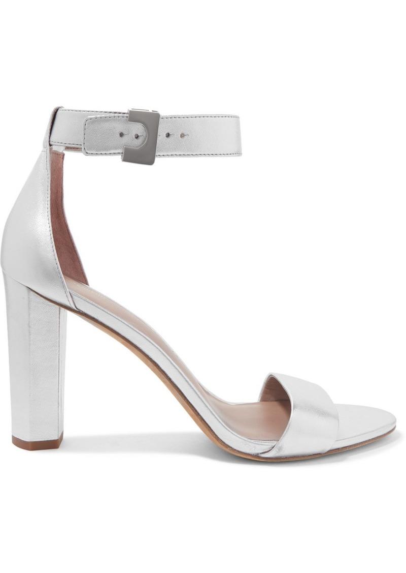 Diane Von Furstenberg Chainlink Metallic Leather Sandals
