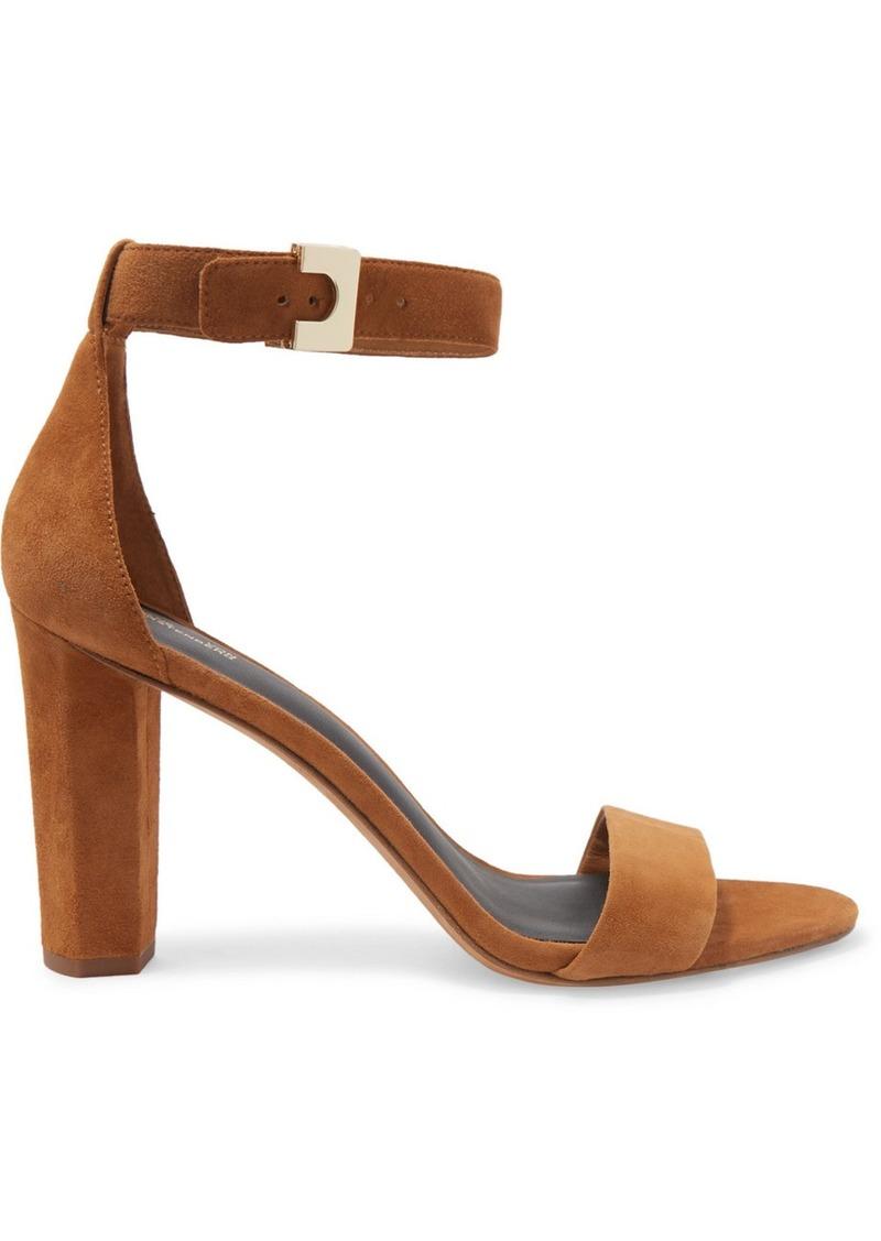 Diane Von Furstenberg Chainlink Suede Sandals