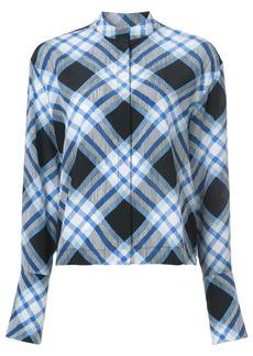 Diane Von Furstenberg checked blouse
