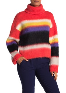 Diane Von Furstenberg Chunky Stripe Turtleneck Sweater