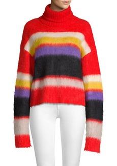 Diane Von Furstenberg Chunky Striped Turtleneck Sweater