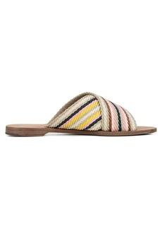 Diane Von Furstenberg Cindi Multicolored Webbed Slides