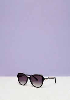 Diane Von Furstenberg Claire Oversized Angular Sunglasses