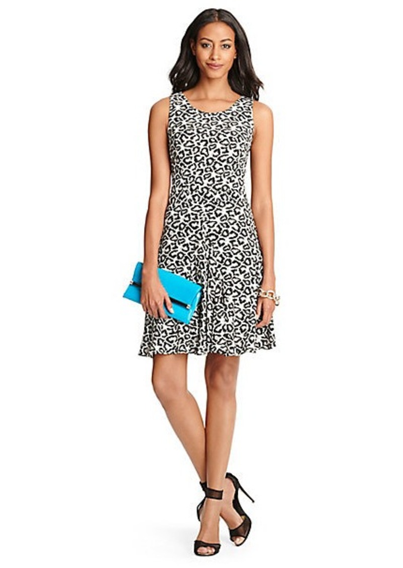 Diane Von Furstenberg Clara Leopard Print Flared Dress