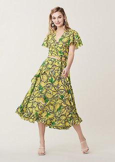 Diane Von Furstenberg Clarissa Ruffled Cotton Voile Beach Wrap Skirt