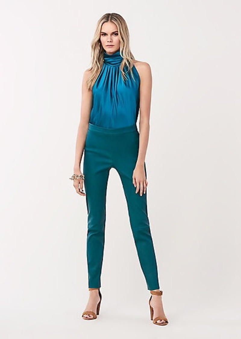 Diane Von Furstenberg Claudia Stretch Leather Skinny Pants