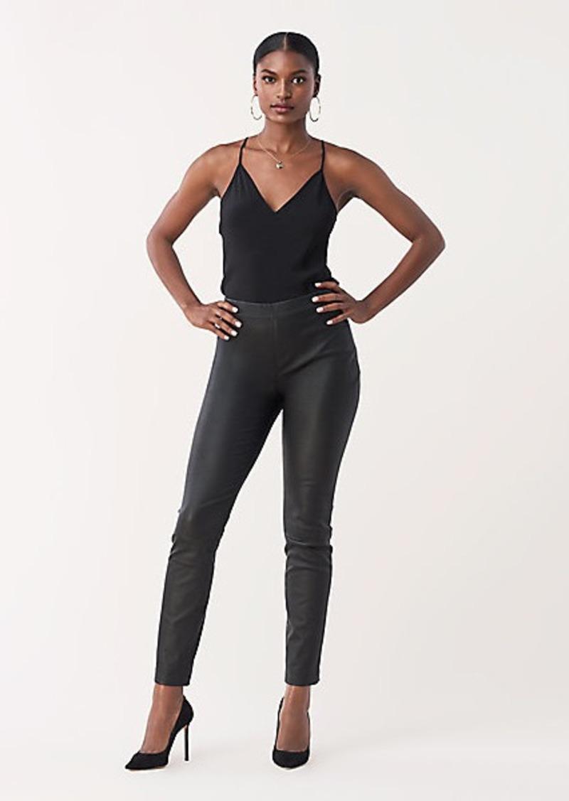 Diane Von Furstenberg Claudia Stretch Leather Skinny Pants