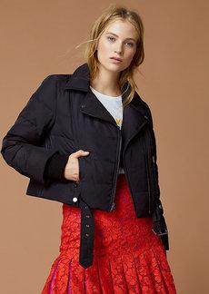 Diane Von Furstenberg Puffer Moto Jacket