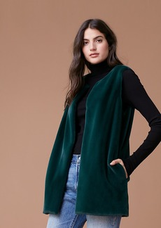 Diane Von Furstenberg Faux Fur Front Pocket Vest