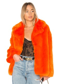 Collared Faux Fur Jacket