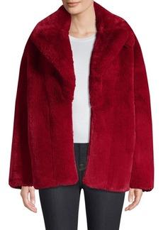 Diane Von Furstenberg Collared Faux-Fur Teddy Coat