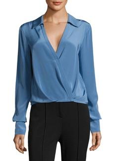 Diane Von Furstenberg Collared Silk Blouse