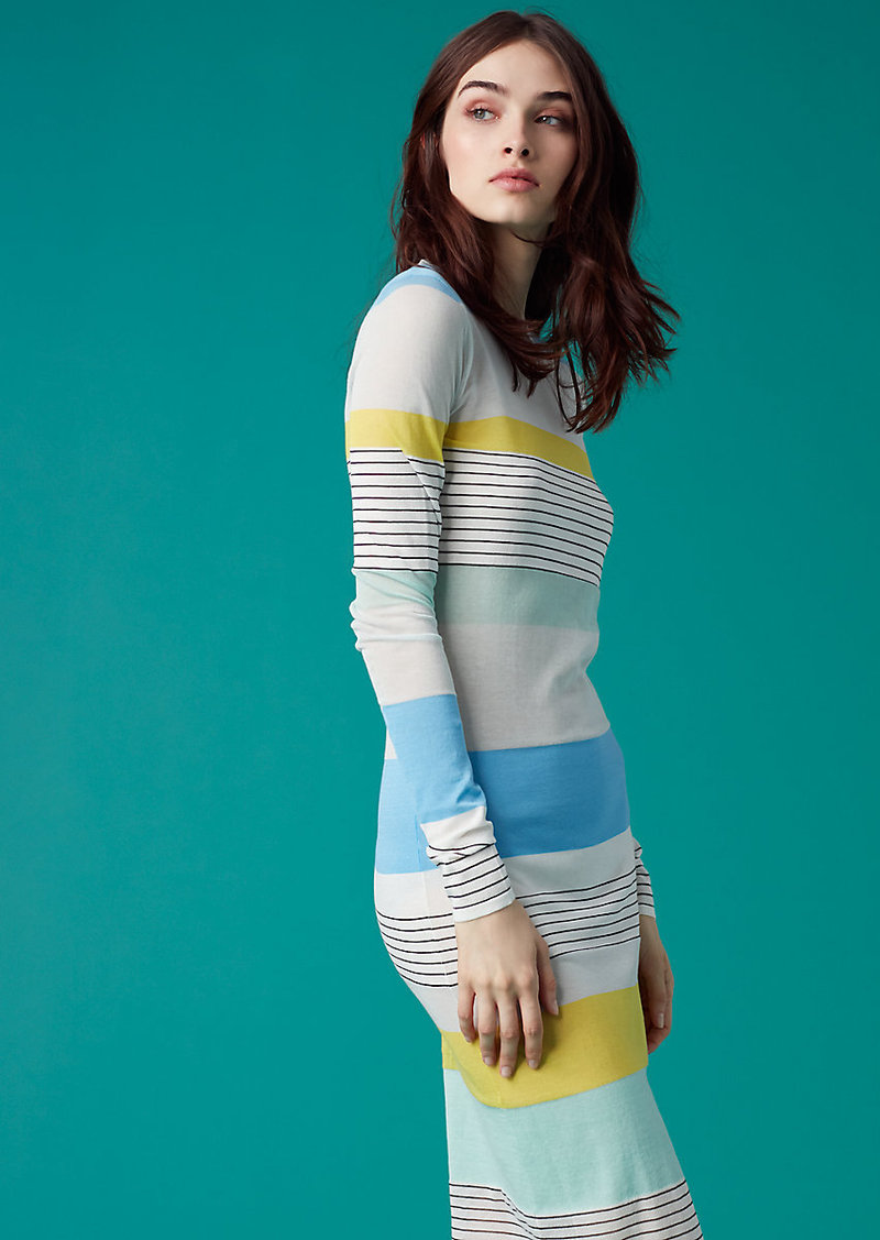 Diane Von Furstenberg Color Block Knit Dress