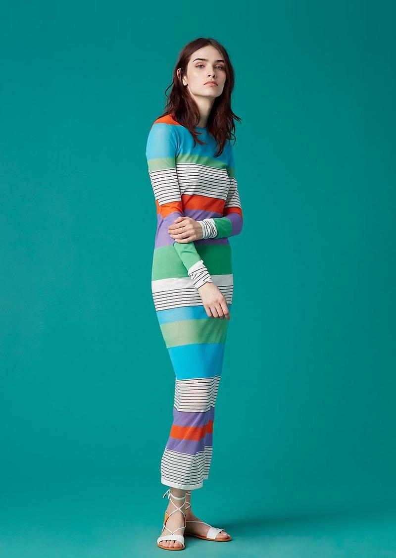 Diane Von Furstenberg Color Block Knit Dress