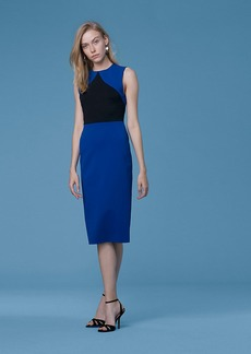 Diane Von Furstenberg Color Block Sheath Dress