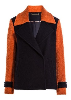 Diane Von Furstenberg Color Block Wool Jacket