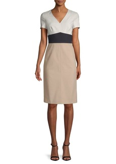 Diane Von Furstenberg Colorblock Sheath Dress